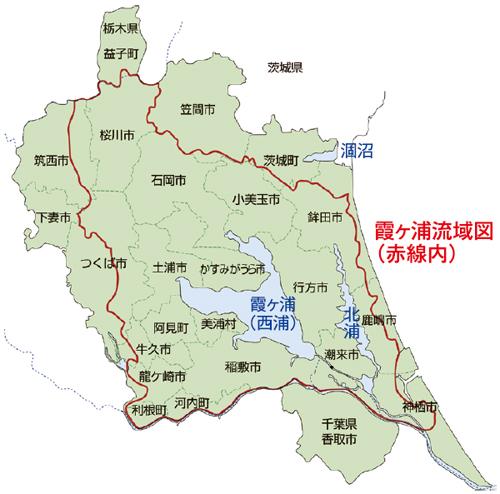霞ヶ浦流域図