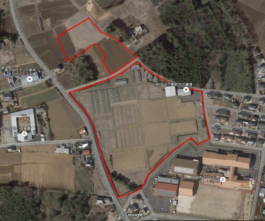 ひたち野地区中学校建設予定用地