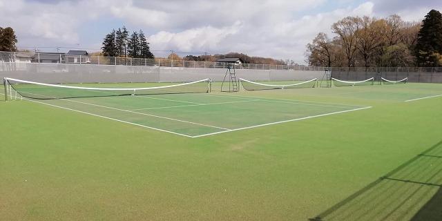 ひたち野うしく中学校テニスコート
